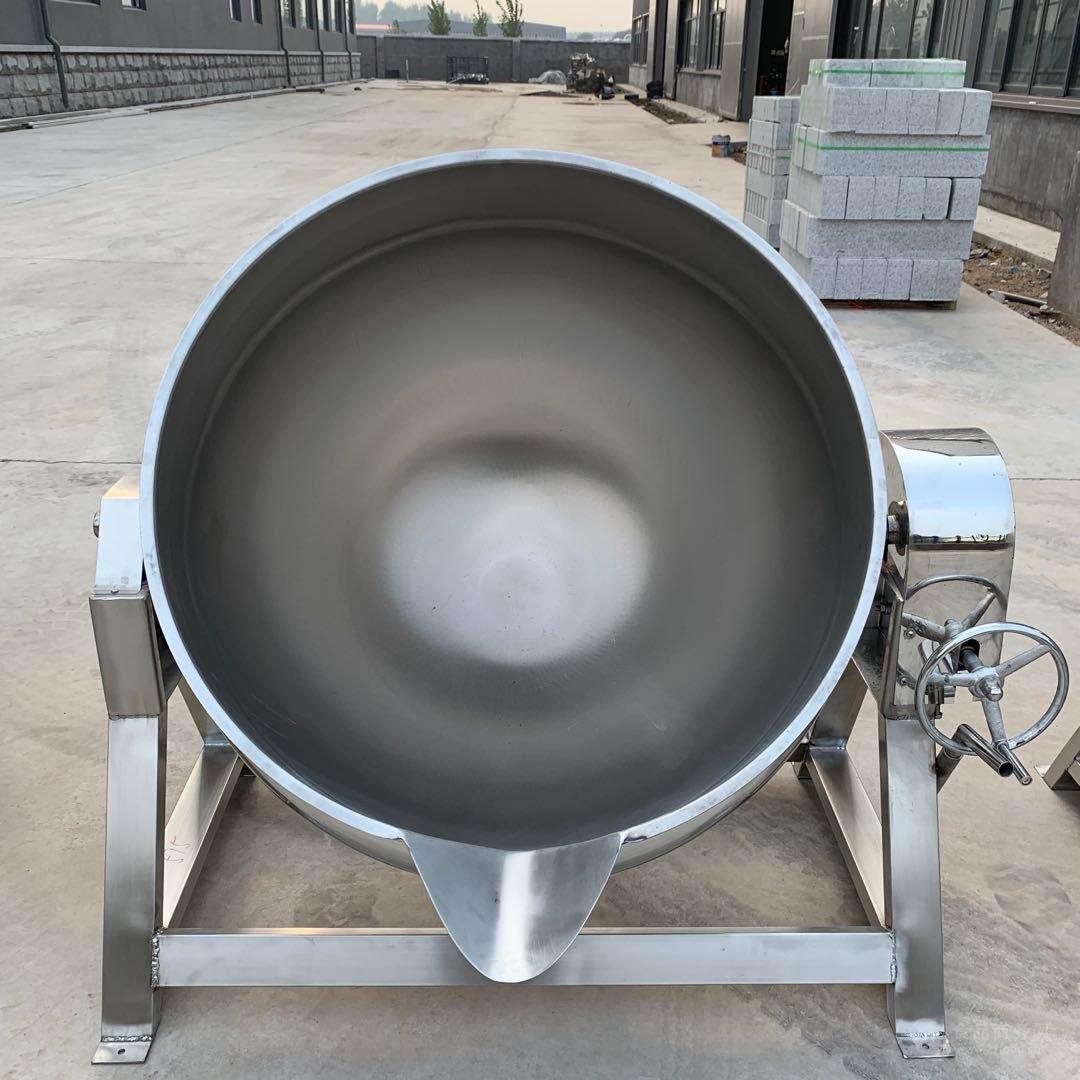 中央厨房用电加热炒锅 电加热带搅拌可倾斜夹层锅