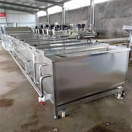 全自动小型蔬菜干杀青设备 水浴式脱水蔬菜漂烫流水线厂家