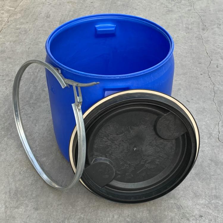 半截桶矮圆桶海鲜桶150升装鱼虾塑料桶