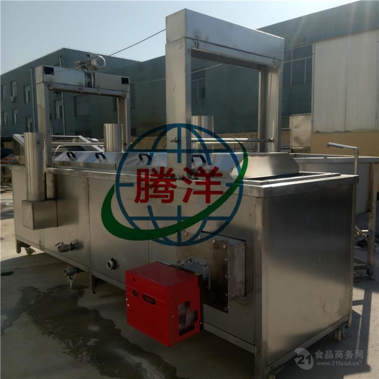 电加热鱼肉食类面食类全自动连续油炸机