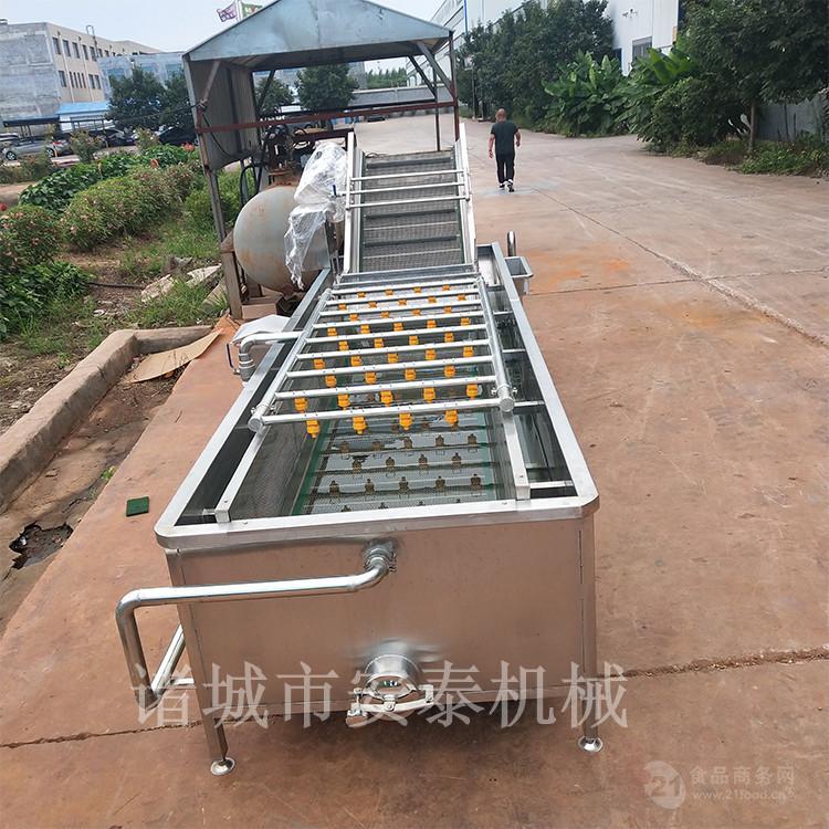 供應大型不鏽鋼氣泡清洗機 蔬菜清洗機