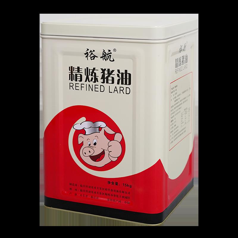 裕航精制铁桶猪油15kg