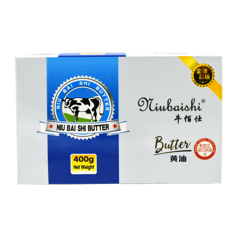 牛佰仕商超动物黄油块 400g*24/箱