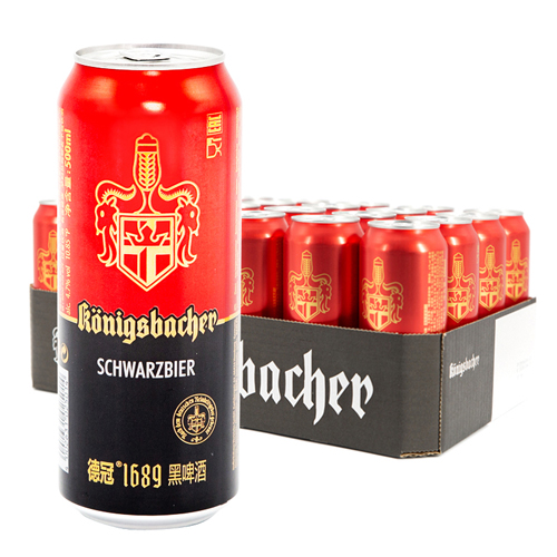 焦香浓郁原装进口德冠1689黑啤