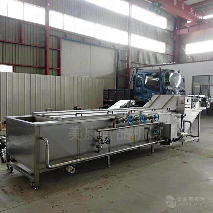 全自动即食玉米粒蒸煮机器 小产量水果玉米预煮杀青流水线安装