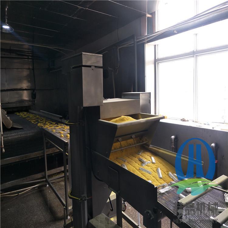 雞排上糠機 雞排裹糠設備 赫品肉排上屑機