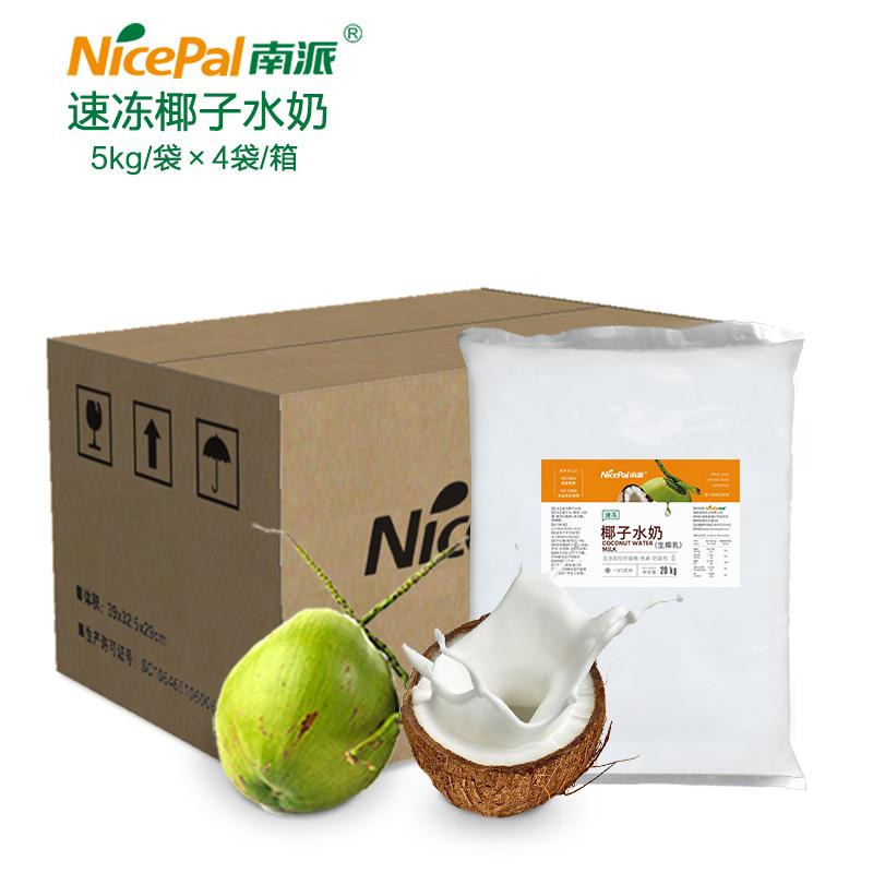 南派速冻椰子水奶厂家冷冻水果浆20公斤/箱椰浆奶茶冷热饮料原料