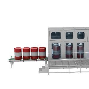 200升大桶自動找口 灌裝 碼垛生產線