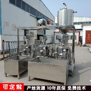 三联磨浆机系统 大型自动三连磨 豆制品加工厂用