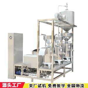 三连磨浆机组 浆渣自动分离磨浆机 中科圣创豆制品设备厂家