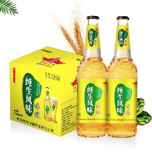 纯生风味瓶装啤酒加盟/500毫升流通啤酒出厂价供应