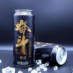 英豪奋斗啤酒 大罐500ml罐装