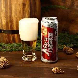 玛咖啤酒500ml*12 玛咖罐装啤酒代理