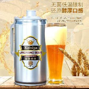 精酿啤酒批发 2升5升原浆啤酒批发 桶装啤酒连锁店招供货商