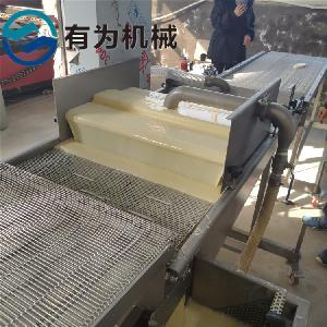 加工定制藕片上浆机   脆皮藕合裹浆油炸流水线