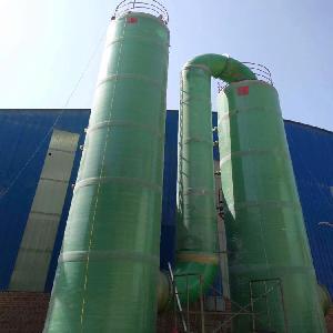 玻璃鋼噴淋塔風量5000立方噴淋式填料凈化塔生產廠家