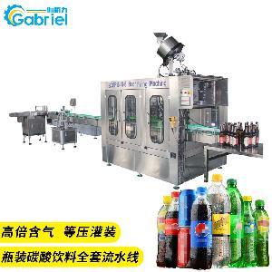 张家港 含气饮料机械设备 350ml-2L全自动碳酸饮料流水线