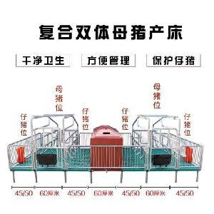 产床产保一体猪用产床母猪产床分娩栏双体产床
