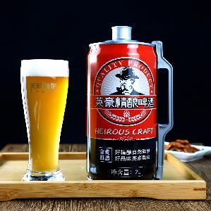 大包装精酿啤酒 英豪精酿啤酒2L桶