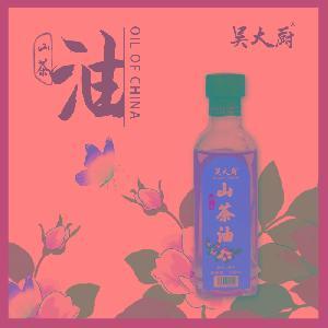 吴大厨野生山茶油食用油纯正茶油宝宝孕妇月子有机茶籽家用100ML