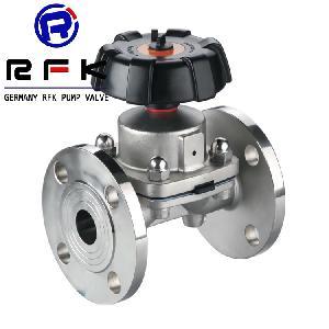 进口卫生级法兰式隔膜阀 德国罗伯特RFK进口隔膜阀品牌商